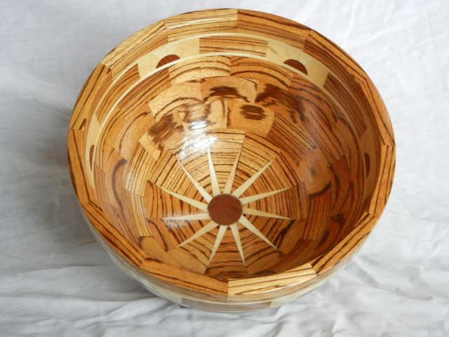 Zebra Wood bowl, top view