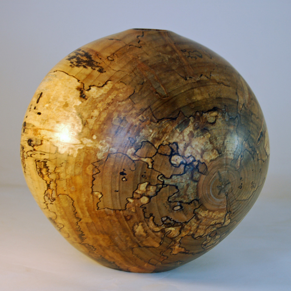 Spalted Orb by Raymond Puffer