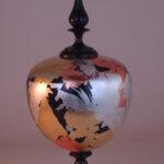 Gilded Globe wood turning